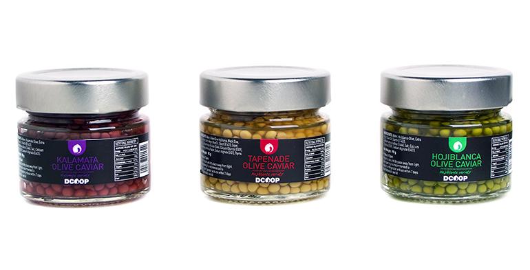 Sorprendente caviar de aceitunas en tres variedades