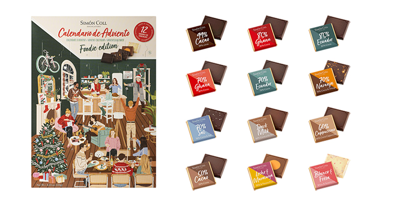 Calendario de Adviento para foodies que aman el chocolate de autor