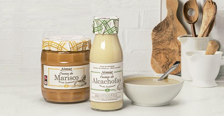 Gama Aimar de sopas y cremas elaboradas de forma tradicional y con ingredientes de primera