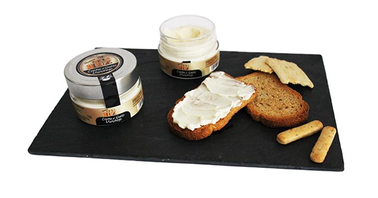 Tres cremas al queso manchego para untar o como ingrediente de salsas