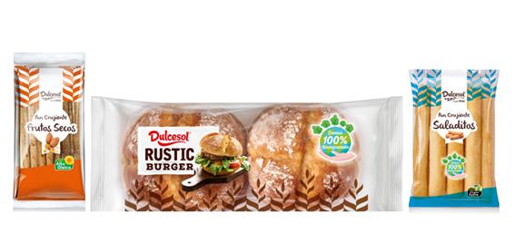 Nuevo pan de burger rústico y pan crujiente en dos variedades, frutos secos y saladitos