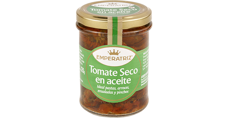 Versátil y saludable tomate seco en aceite y especias