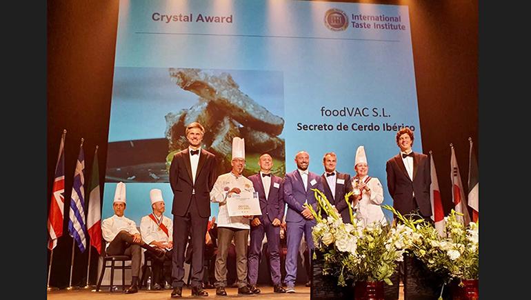 FoodVAC obtiene el premio Crystal Taste Award 2019 por su secreto ibérico a baja temperatura
