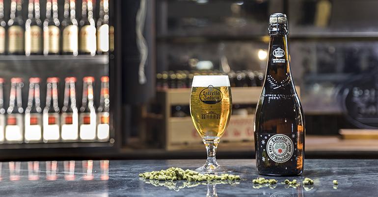 Edición especial Navidad de la cerveza con lúpulo cosechado en Galicia