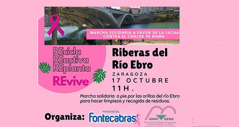 Campaña de sensibilización con el cáncer de mama: Agua Fontecabras y Amac Gema se unen de nuevo este domingo con una marcha solidaria