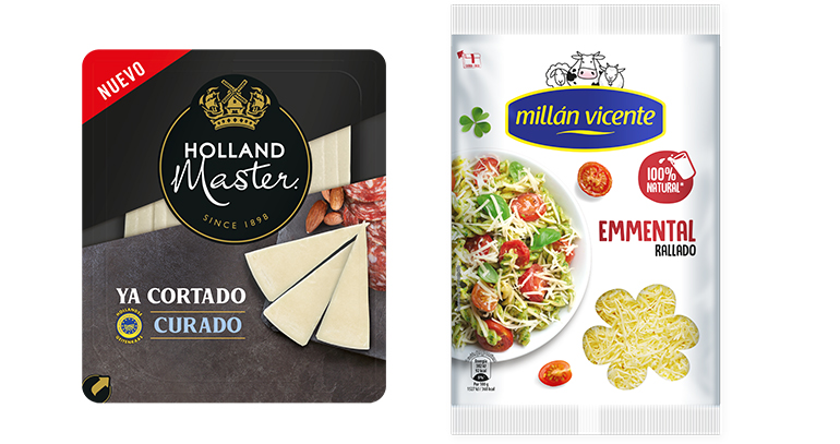El supermercado de Glovo amplía su oferta de quesos de FrieslandCampina con más referencias de Millán Vicente y Holland Master