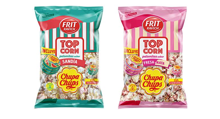 Palomitas Top Corn con sabor a Chupa Chups de Sandía y de Fresa-Nata