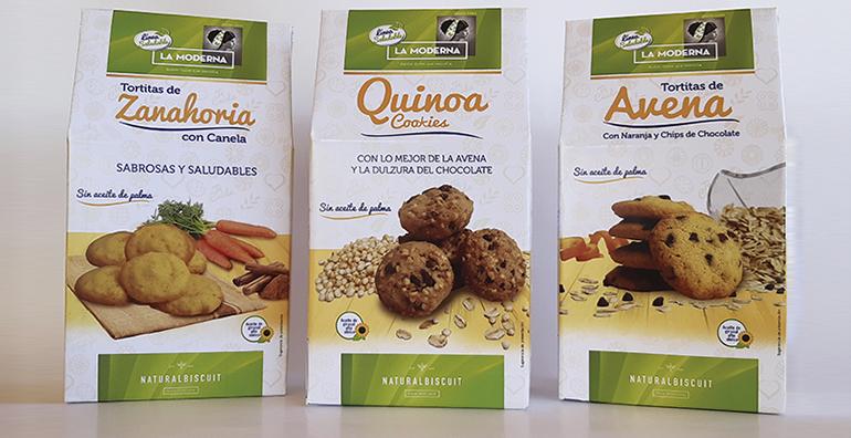 Línea saludable de galletas y tortitas, sin aceite de palma