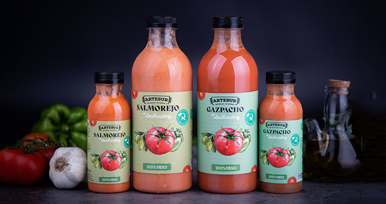 Primeros gazpacho y salmorejo 100% natural Realfooding