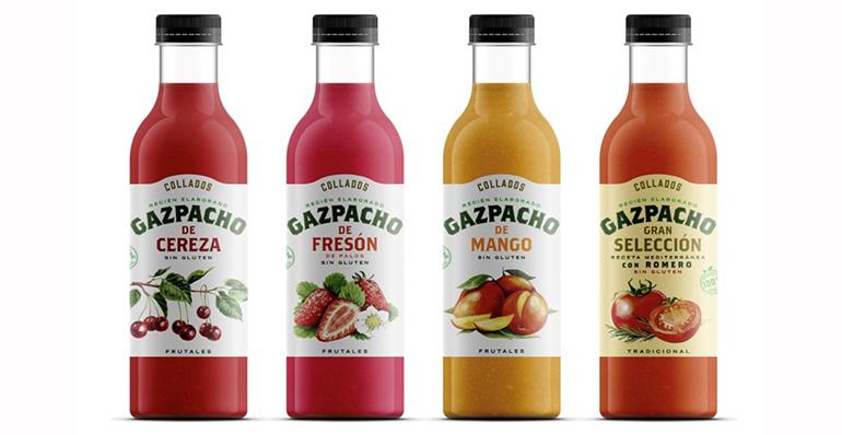 Gazpachos gourmet con ingredientes 100% naturales sin ningún añadido –conservantes ni azúcares– artificial