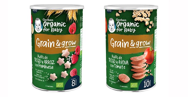 Snacks de cereales orgánicos para bebés premiado como una de