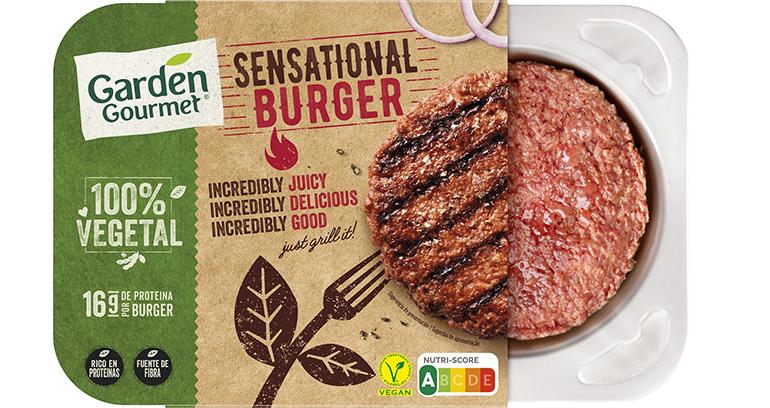 Hamburguesa a base de proteínas vegetales más saborsa y textura más carnosa