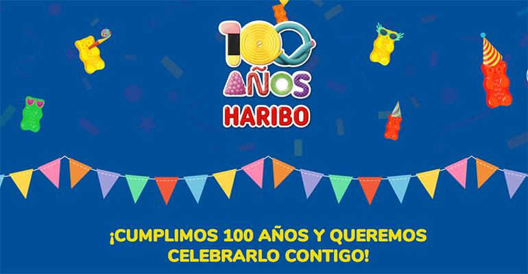Haribo conmemora su centenario sorteando 100 kg de caramelos