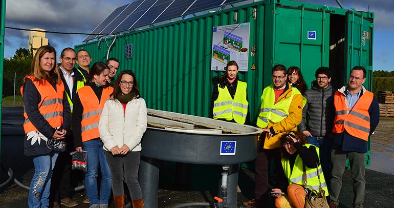 Huercasa prueba con éxito un sistema de depuración de aguas residuales con algas, pionero en Europa