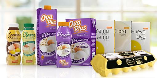 Ovoplus, huevo natural con el 70% menos de colesterol y 45% menos de calorías,