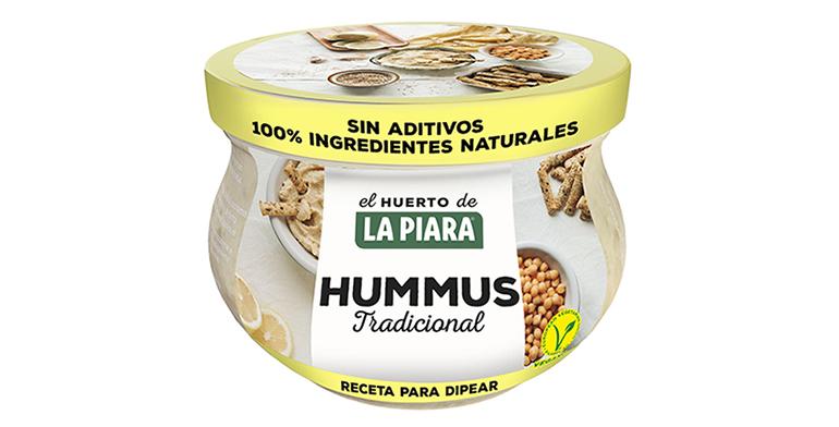 Hummus en tres variedades, sin gluten ni lactosa