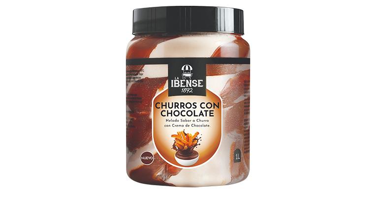 Homenaje al clásico chocolate con churros convirtiéndolo en helado