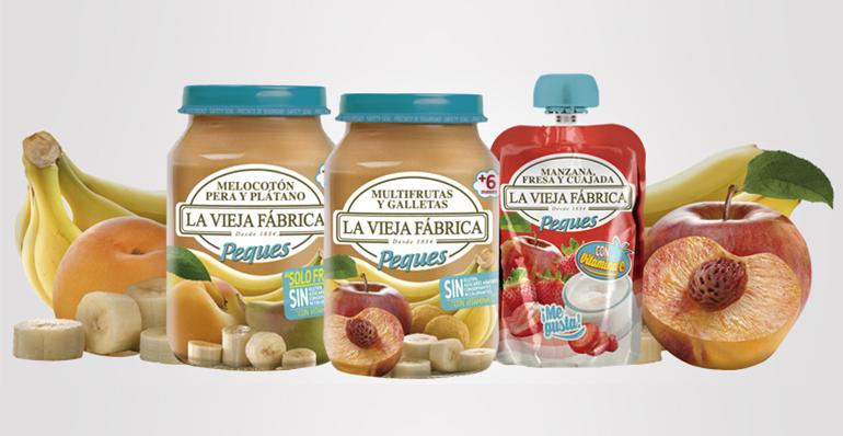 Saludables potitos y pouches de frutas, 100% naturales, sin gluten y con vitamina C