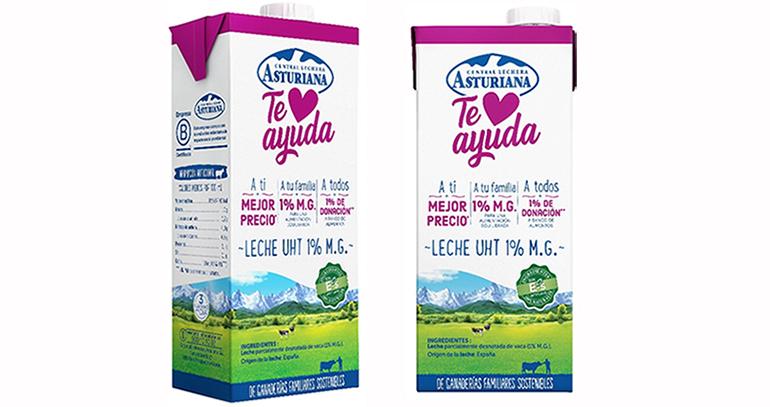 """Nueva gama de productos lácteos """"Te Ayuda""""  en apoyo de los consumidores y Bancos de Alimentos"""