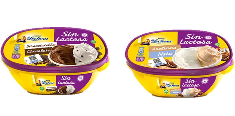 Gama de helados de La Lechera, ahora sin lactosa