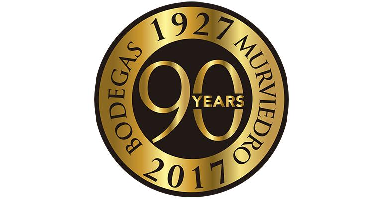 Logo 90 aniversario de bodegas murviedro