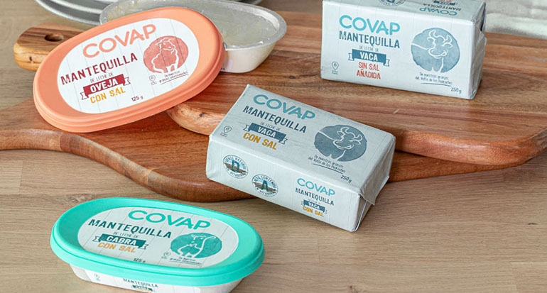 Gama de mantequillas, ricas en vitamina A y elaboradas con leche de vaca, oveja y cabra