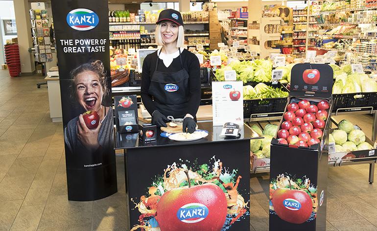 Kanzi, la manzana Club producida en Italia por los consorcios VOG y VI.P, una de las más valoradas por los consumidores en España