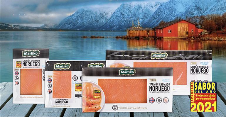Salmón Ahumado Noruego Martiko Premium. Sabor del Año 2021