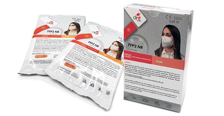 Mascarillas  FPP2 con certificado CE, de origen español