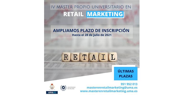 La Universidad de Málaga oferta la IV edición del Máster Propio en Retail Marketing, único programa superior de este tipo en Andalucía