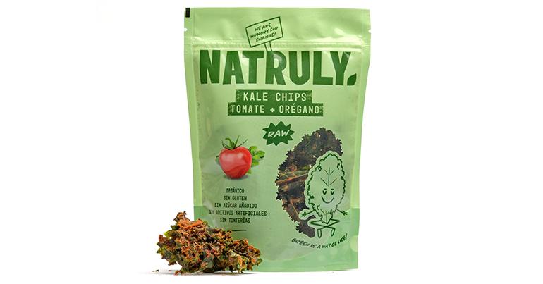 Kale Chips orgánicos, 100% natural, de textura crujiente y procedentes de agricultura ecológica