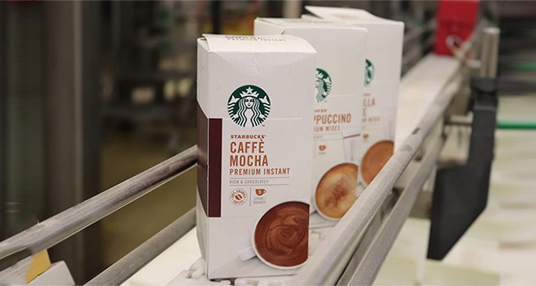 Lanzamiento mundial del café Starbucks soluble premium Medium y Dark Roast para supermercados
