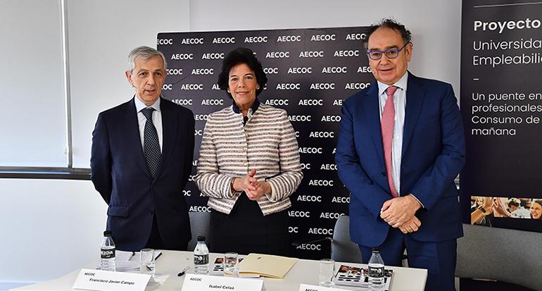 La ministra de educación y Aecoc presentan un nuevo título de FP de comercialización de productos alimentarios