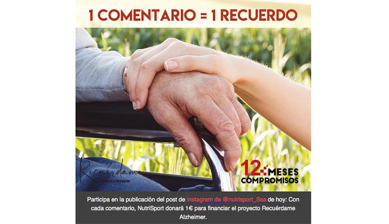 NutriSport impulsa la campaña solidaria  #nuncaolvidare por los enfermos de Alzheimer