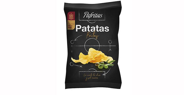 Patatas fritas con sal marina fritas en aceite de oliva con sabor a La Roja