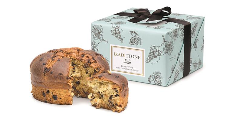 Panettone elaborado en Italia con chocolate y crema de orujo de vino de la Rioja alavesa