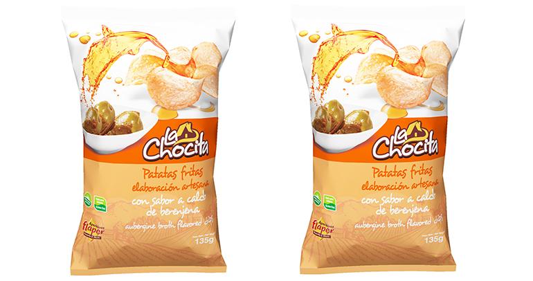 Nueva imagen para las patatas fritas artesanas sabor a caldo de berenjena