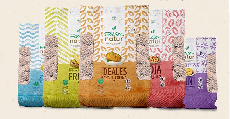 Gama de patatas Freshnatur, premiadas por el diseño del envase