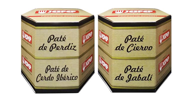 Estuche en pack de dos patés, origen Castilla-La Mancha