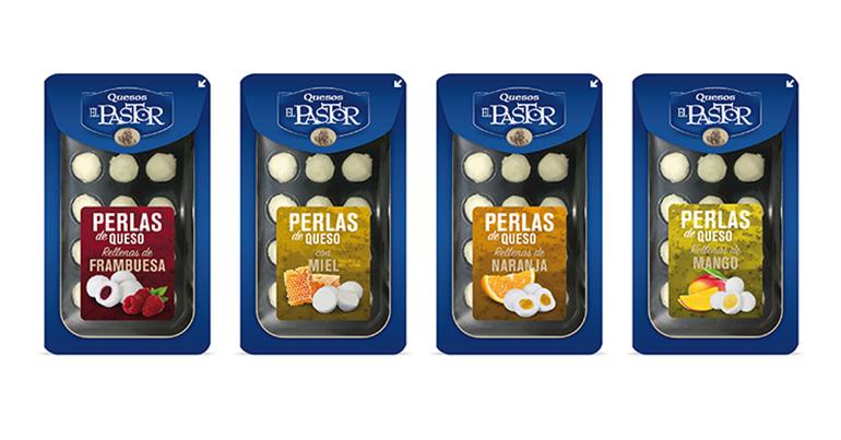 Perlas de sabores elaboradoras con queso de primera calidad