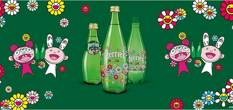 El universo pop de Takashi Murakami envasado en edición limitada en las icónicas botellas de Perrier