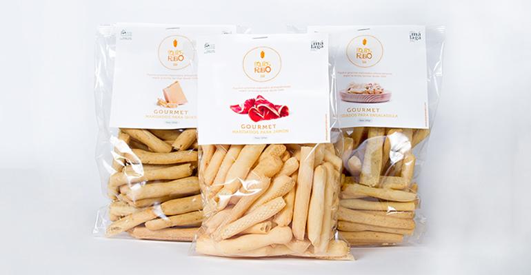 Picos gourmet maridados para jamón ibérico, queso y ensaladilla rusa