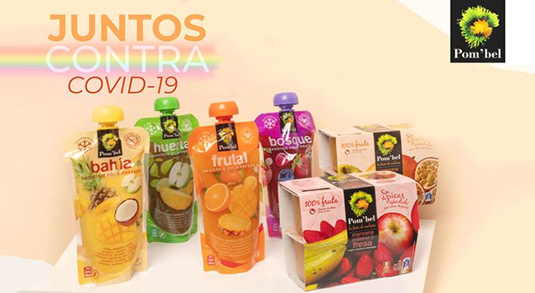 Pom´bel se vuelca con los sanitarios donando fruta de V gama en hospitales de toda España