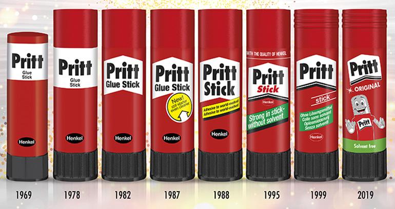 El pegamento Pritt cumple medio siglo con un 90% de ingredientes naturales como almidón de patata y azúcar