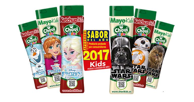 Chovi Kids, nuevas salsas para niños más saludables y coleccionables