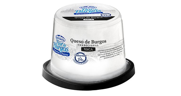 30 referencias de quesos y productos frescos en co-branding bajo la marca Central Lechera Asturiana- Flor de Burgos