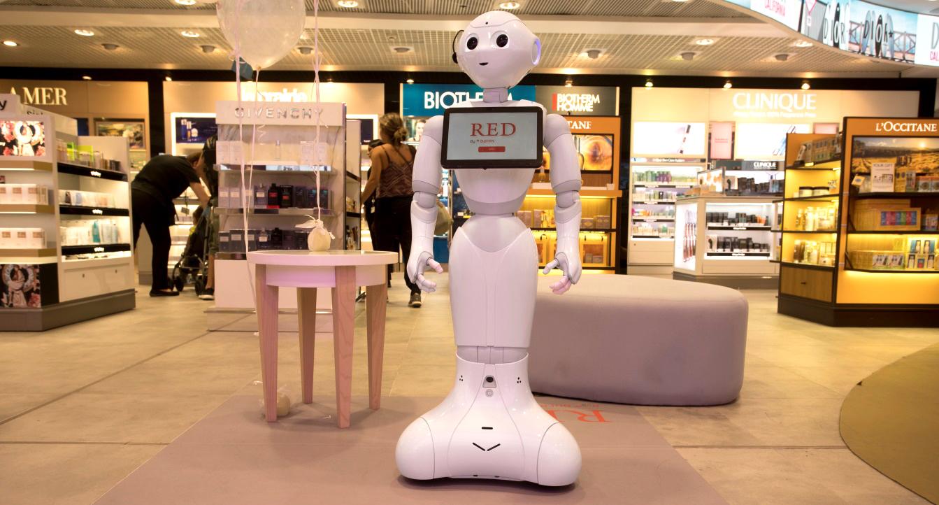robot-tienda -barajas-dutty-free