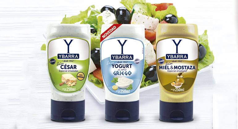 Nueva salsa de Yogurt al estilo Griego en envase boca-abajo de 250 ml