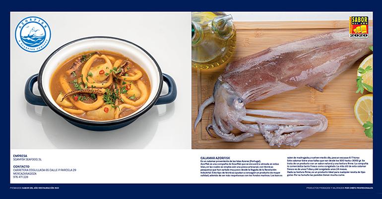El Calamar Azorfisk y el Bacalao Ultrafish de Scanfisk Seafood, distinguidos como Sabor del Año Restauración