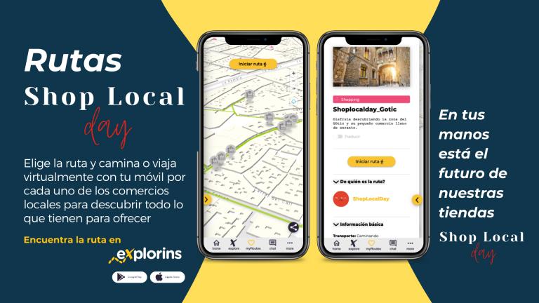 La plataforma eXplorins se alía con Shop Local Day para fomentar rutas de comercio de proximidad